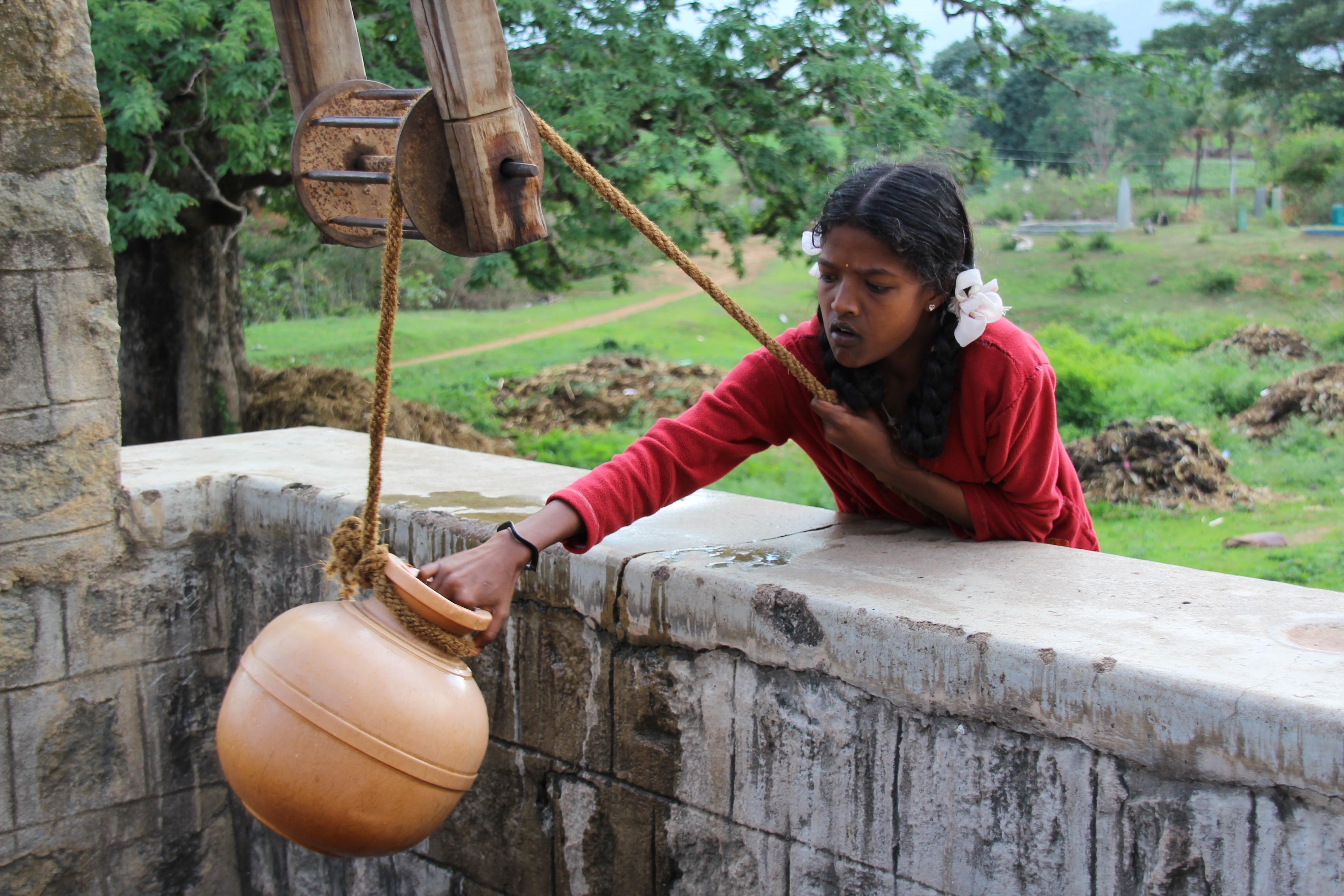 水の支援(インド